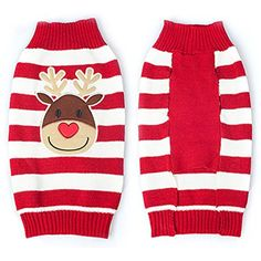 Meelino Pet Dog Holiday Christmas Cartoon Clown Costume Fun Clothes Puppy Sweater Gift (S, Red) *** Check out the image by visiting the link. (This is an affiliate link) #DogApparelAccessories