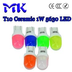 DHL EMS 1000X W5W T10 194 168 W5W Ceramic 2 SMD 5630 LED Durable clearance 2smd 2led Green Pink White Red Yellow blue DC 12V