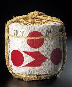 Japanese sake barrel