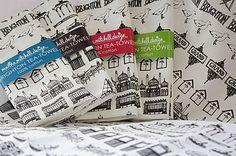 Illustrated Brighton Strip Tea Towels