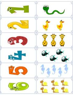 Free Animal Number Flashcards - These free flashcards are the first set in the animal flashcards series. Click the thumbnail, print out the pdf file and then cut out the cards. Then you can fold and glue or tape the front/back together to create your own flash cards.