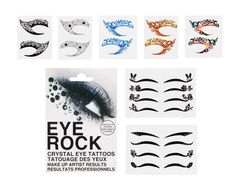 Amazon.com: Bundle Monster 8pc Fashionable Fun Temporary Eye Tattoo Makeup Crystal Gem Glitter Liner Packs- Butterfly, Wings, Star: Beauty