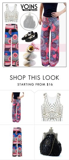 """""""Yoins Print Loose High Waist Trouser"""" by ilona-828 ❤ liked on Polyvore featuring moda"""