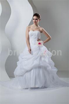 White Beading Sleeveless A-Line Sweetheart Wedding Dress