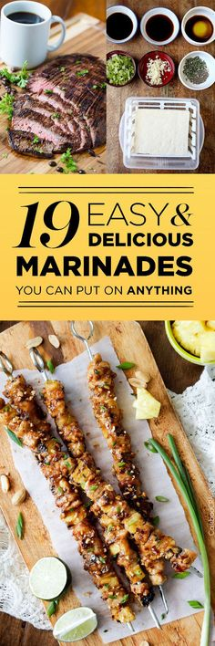 19 Easy Marinades That Will Make Everything More Delicious from BuzzFeed. Thanks for including my Rosemary-Mustard Grilled Chicken marinade that's also great on zucchini!