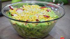 Green Salad With Radish, Cucumber, Corn And Garlic #foodformyhealth #food #health #greensalad #radish #cucumber #corn #garlic http://foodformyhealth.com/green-salad-with-radish-cucumber-corn-and-garlic/