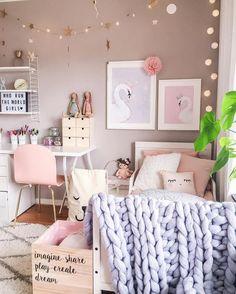 Dream Rooms for girls videos Girl Bedroom Designs, Bedroom Themes, Bedroom Decor, Bedroom Inspo, Bedroom Ideas, Bedrooms, Baby Bedroom, Little Girl Rooms, Dream Rooms