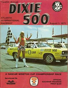 NASCAR Dixie 500 program (1971 Atlanta)