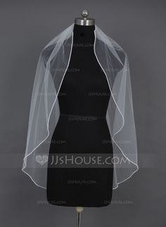 Wedding Veils - $24.99 - One-tier Fingertip Bridal Veils With Pearl Trim Edge (006030985) http://jjshouse.com/One-Tier-Fingertip-Bridal-Veils-With-Pearl-Trim-Edge-006030985-g30985