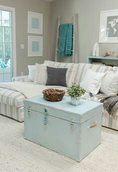 Simple Ways to Add Washed Out Coastal Colors to Your Home !