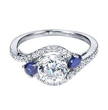 """""""Something old, something new, something borrowed, something blue.""""  This halo style ring is a perfect fit for your special day!"""