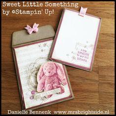 Sweet Little Something giftbag envelope vintage style - On Stage Display Samples - Mrs. Brightside - Danielle Bennenk