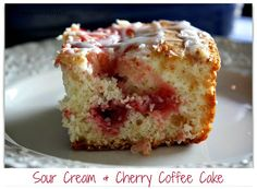 Mommy's Kitchen: Today is National Coffee Cake Day! Lets celebreat with my favorite Sour Cream & Cherry Coffee Cake