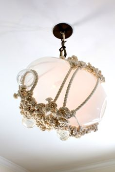 Rope it… Nautical light fixture with knotted rope