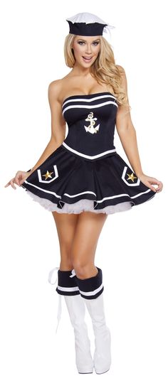 Roxanni 4580- 2pc Naughty Navy Yard Vixen by Roma Halloween Costume