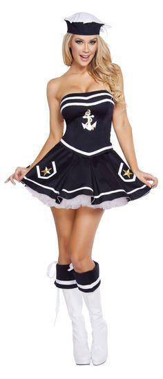 Roxanni 4580- 2pc Naughty Navy Yard Vixen by Roma Halloween Costume