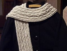 Loom Knit Cables and Lace Scarf