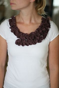 Plum Ruffle Neckline: Maybe my all time favorite
