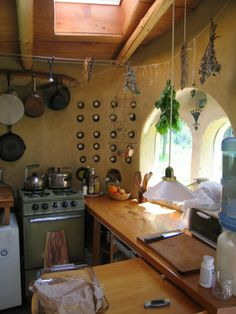 cob interior: kitchen