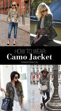 The Look for Less: Saint Laurent Camo Jacket, Plus 4 Ways to Wear It