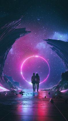 Couple, digital art, fantasy, 720x1280 wallpaper