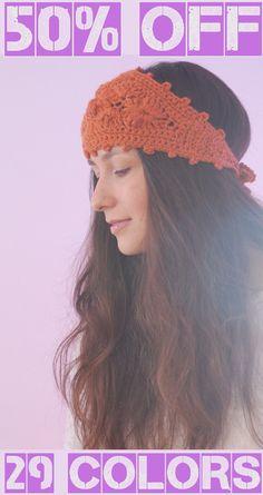 Chunky headband, orange wool headband, crochet ear warmer, fashion headband, autumn fall headband, merino wool  headband, hippie headband by SexyCrochetByOlga on Etsy https://www.etsy.com/listing/201756011/chunky-headband-orange-wool-headband