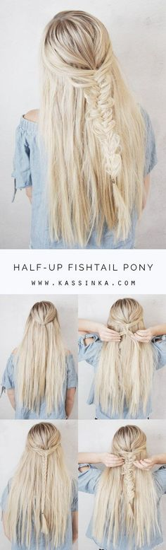 I found this cute braid and thought I would share it with you. Looks super easy for beginner braiders but so cute. Add a subtle beach wave for a little …