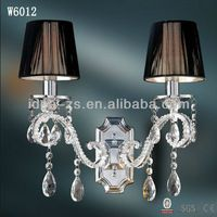 This crystal wall lamp will add drama and timeless style in any design space. Wall Sconce Lighting, Wall Sconces, Crystal Light Fixture, Wall Lights, Ceiling Lights, Crystal Wall, Black Lamps, Lamp Shades, Chrome Plating
