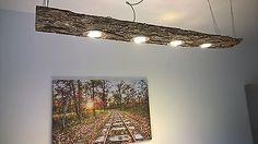 LED Decken Holz Lampe Rustikal 120cm 4x 7W Massivholz Limitiertes Unikat 7 Stück