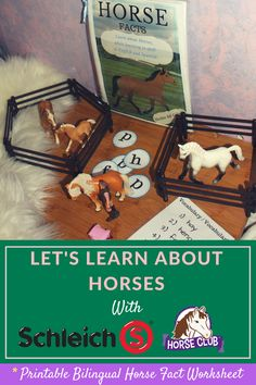 Learning About Horses with Schleich!  {PRINTABLE Bilingual Activity Book} Perfect for Preschoolers! #AD   >> http://bit.ly/HorseSheet