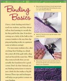 Quilting Projects, Craft Projects, Quilt Binding, Learn To Sew, Sewing Techniques, Teaching, Quilts, Stitch, Pattern