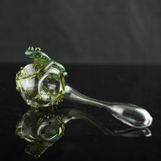 Frog Glass Sherlock Pipe Hand Blown Thick Wall by andromedaglass