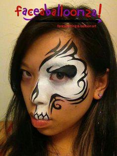 Half skull facepaint