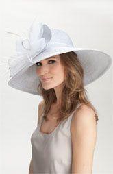 Badgley Mischka 'Metallic Romantic' Derby Hat
