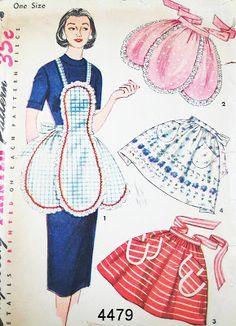 """Милые сердцу штучки: """"Коллекция ретро-фартуков для стильных дам"""""""