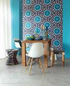 Eijffinger behang Suzani - blauw - 314003/ 314073