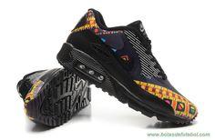 Nike Air Max 90 Hyperfuse PRM Preto Navy Amarelo 504658-002 Masculino-Mulheres chuteira a venda