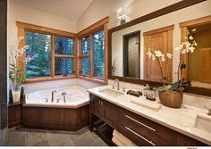 Martis Camp Lot 217 - contemporary - bathroom - sacramento - Sonder Nicholas Architect Like the framing around mirror and cabinetry.