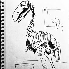 In the spirit of turkey day, here is the Terror Bird, #diatryma #skeleton ink drawing from @naturalhistory - #illustration #art #originalart  #artist #prehistoric #dinosaur #extinct #paleontology #nature #fossil #animals #drawing #drawings #sketchbook #sketching #sketches #marker #amnh #americanmuseumofnaturalhistory #jurassicworld #bones #dinovember #terrorbird #bird #giant