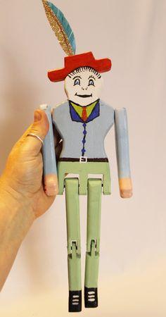 Classic Limberjack Man Jig Doll Set by chuckmillercreations