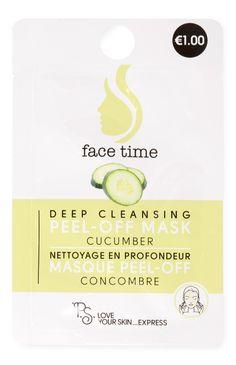 Masque visage au concombre pour un nettoyage en profondeur 1.00€