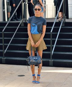 cute way to dress up a tee shirt