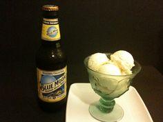 Blue Moon Beer Ice Cream.