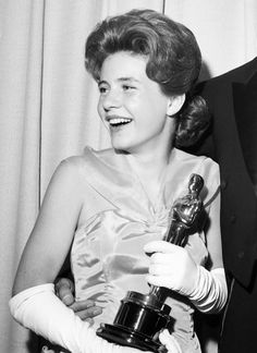 """APRIL 8, 1963: Patty Duke, sixteen, becomes the youngest competitive Oscar winner at the time for her performance as Helen Keller in """"The Miracle Worker."""""""