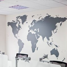 Walls need love world map wall decal wall space pinterest wall world map wall sticker gumiabroncs Image collections
