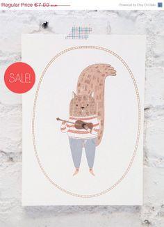 ON SALE Art Print  Illustration Print  ukelele  by littleatae, €4.90