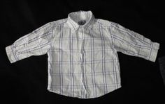 "The Children's Place TCP Boys 12 Months Long Sleeve Button Up Shirt~  The Children's Place Baby Boys Long Sleeve Button Down Shirt with Long Sleeves. It is a plaid design with dark blue, light green, and gray on a white background. Very neutral and versatile, and looks so cute on little man!     Fits 12-18 months, 29-31""/ 22-26 lbs.    #teamsellit"