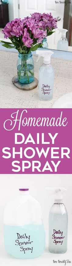 How to make your own DIY daily shower spray!