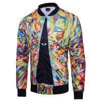Colorful eye bomber jacket for men Harajuku style jacket coat