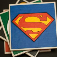 Super cute DC Coasters by 27elements on Etsy, $20.00